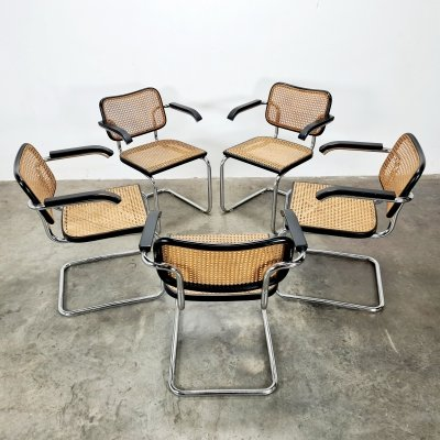 Cesca dining chairs by Marcel Breuer for Gavina, 1970s