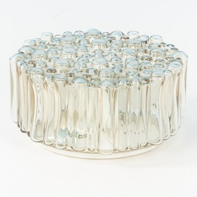 Bubble glass lamp by Glashütte Limburg, Germany 1960s