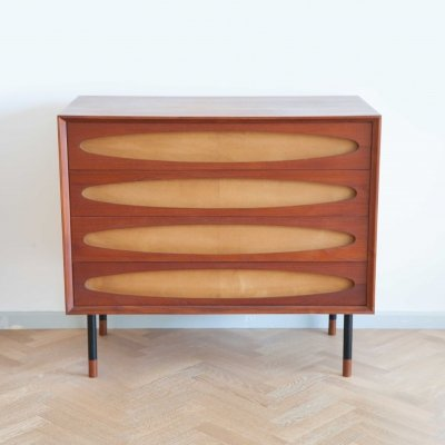 Mid century modern chest of drawers, Italy 1950s