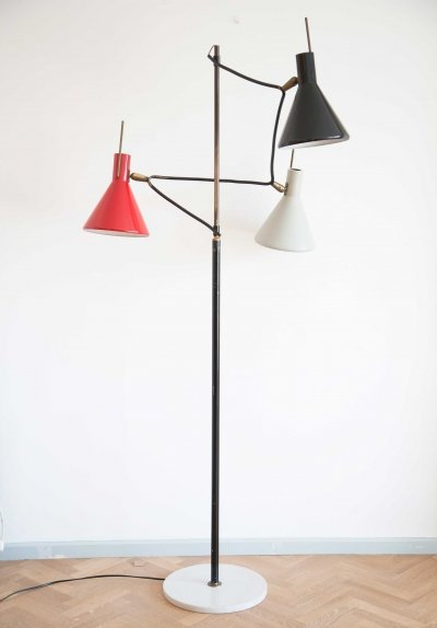 Italian floor lamp by Stilnovo, marked 1950s