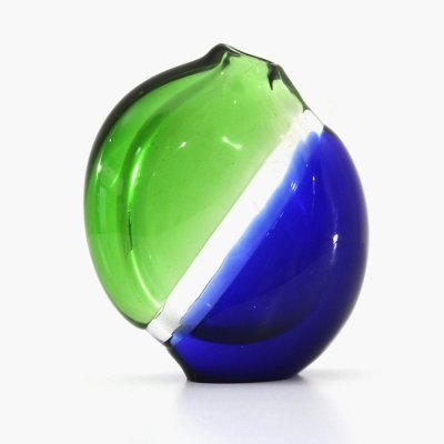 Green & blue Murano glass vase, 1960s