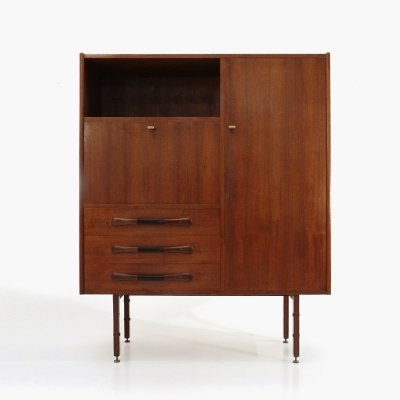 Cabinet with drawers & flap, 1960s
