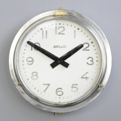 Large Industrial Wall Clock by Brillie, Circa 1930s