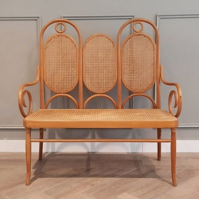 Bentwood & Rattan Bench No. 207 by Michael Thonet for Thonet, 1970s