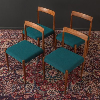 Set of 4 teak dining chairs by Lübke, Germany 1960s