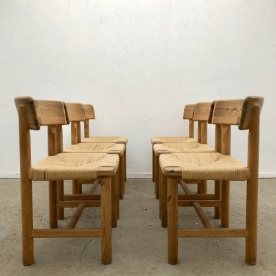 Set of 6 Dining chairs by Rainer Daumiller for Hirtshals Sawmill, Denmark 1970s