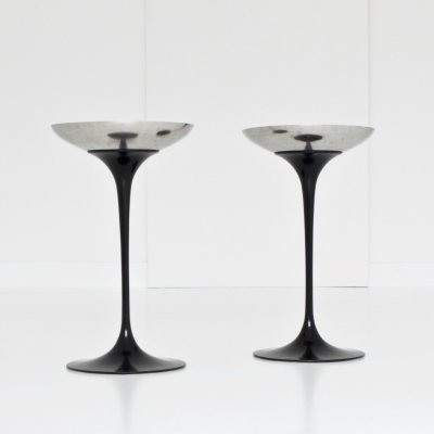 Pair of Tulip Pedestal Ash Trays by Eero Saarinen for Knoll, 1960s