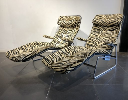 Rare Pair of 'Fenix' Lounge Chairs by Sam Larsson for DUX, 1970s