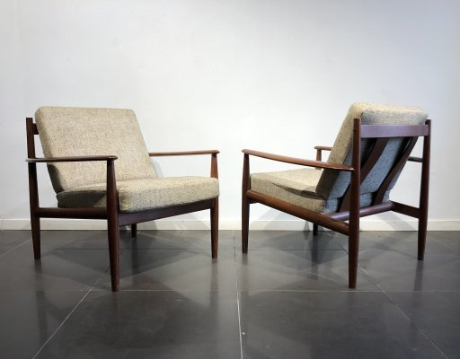 Pair of 'Model 128' Easy Chairs by Grete Jalk for France & Søn, 1960s
