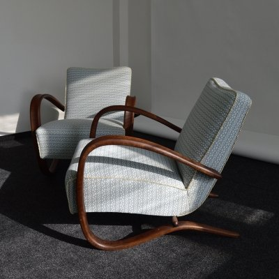 Set of 2 Armchairs by Jindrich Halabala, 1930's