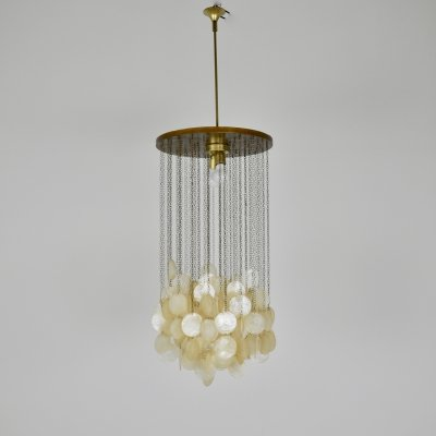 Italian Mother-of-Pearl Chandelier, 1960s