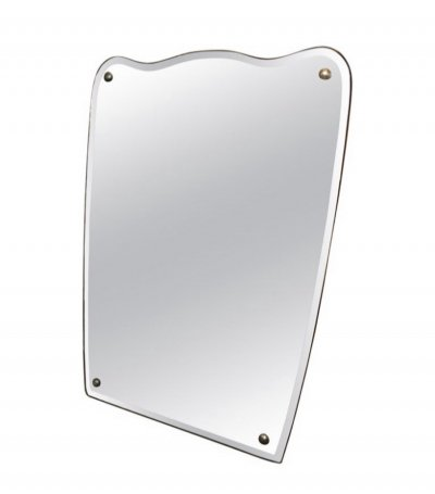 Mid-Century Modern Italian Shaped Wall Mirror, circa 1950