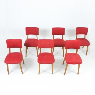 Set of 6 Dutch dining chairs, 1950s