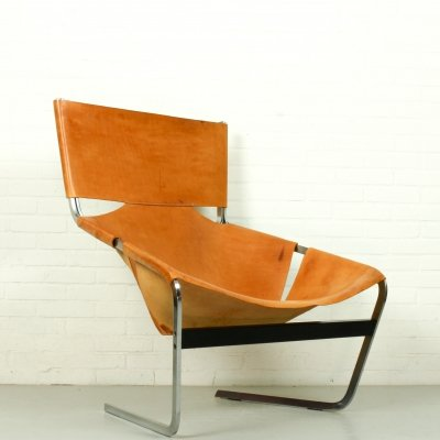 Pierre Paulin F444 chair in Natural Leather, The Netherlands 1963