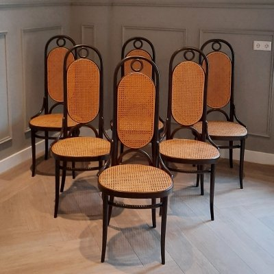 Set of 6 No. 207 R Chairs by Michael Thonet for Thonet, 1970s