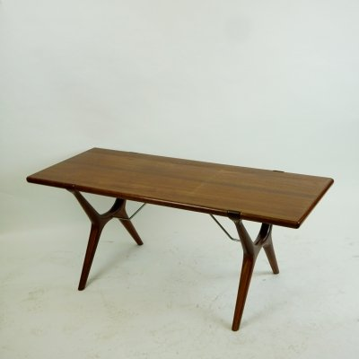 Scandinavian Teak Coffee Table by Karl Erik Ekselius for J.O. Carlsson Vetlanda