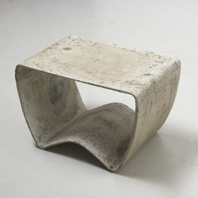 Rare Outdoor Stool by Ludwig Walser for Eternit, Switzerland 1950's