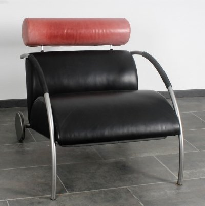 Leather Zyklus chair by Peter Maly for Cor, 1980's