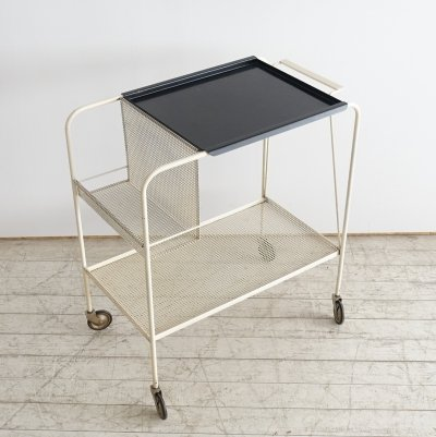 Serving trolley by Tjerk Reijenga for Pilastro, 1950s
