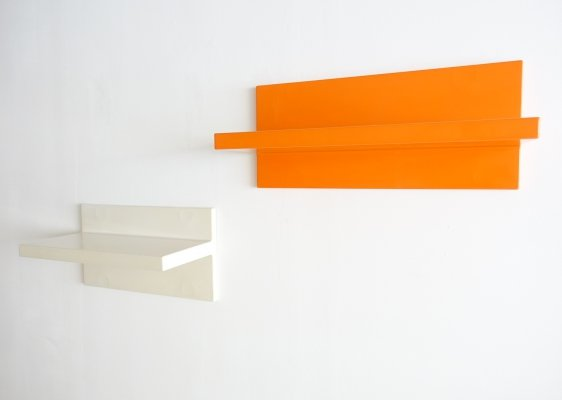 Vintage wall-mounted plastic shelves by Marcello Siard for Kartell