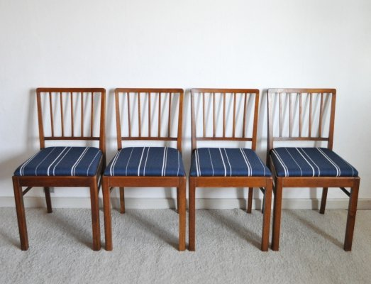 Set of 4 Danish Dining Chairs, 1940s