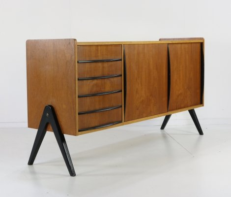 Danish design sideboard with black accents