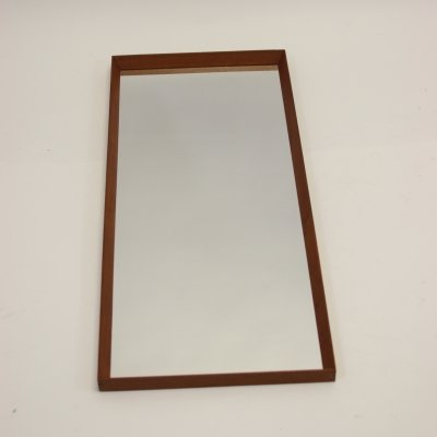 Large Danish vintage teak mirror, 1960s