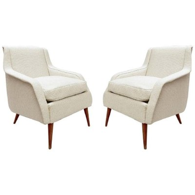 Pair of Model 802 Armchairs by Carlo De Carli for Cassina, 1950s