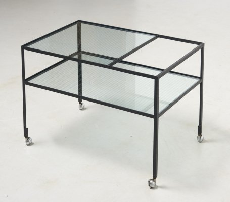 Refined Service Trolley by Herbert Hirche for Rosenthal, Germany 1950's