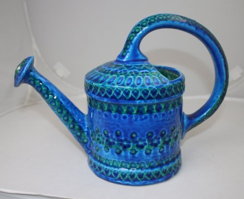 Bitossi Ceramic Blue Watering Can by Aldo Londi, 1970s