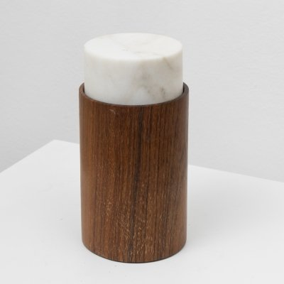 Bruno Munari Marble & wood mod. 2028 jar for Danese, 1961