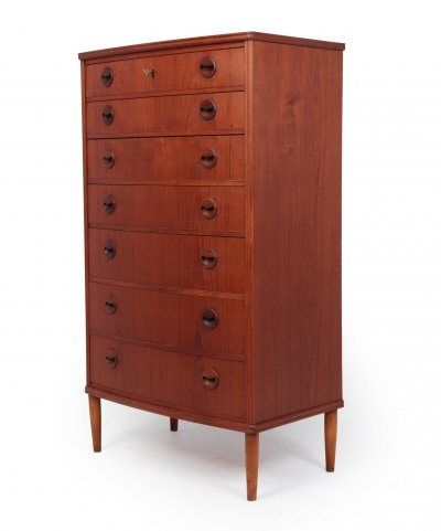 Mid Century modern Danish teak chest of drawers, 1950s
