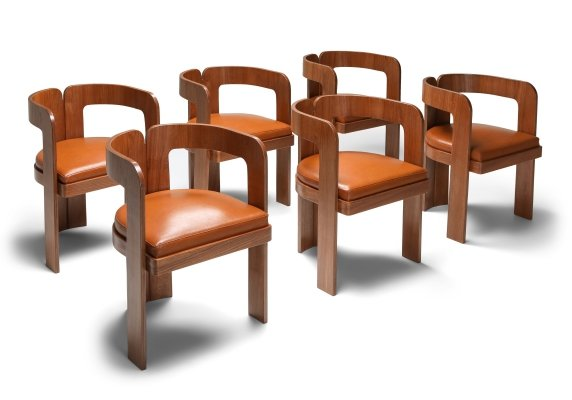 Set of 6 Marzio Cechi Dining Chairs, 1970's