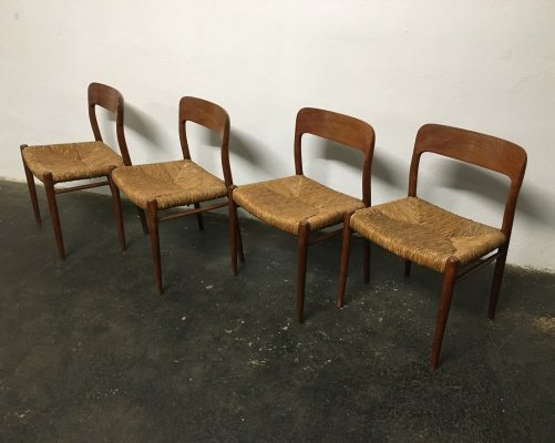 Set of 4 dining chairs by Niels O. Møller for JL Møllers Møbelfabrik, 1960s