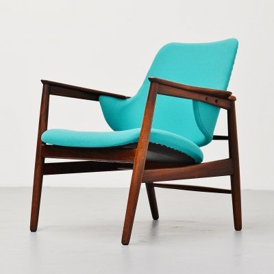 Ib Kofod Larsen easy chair by Christensen & Larsen, Denmark 1953