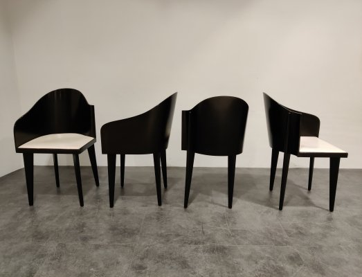 Set of 4 Toscana chairs by Piero Sartogo for Saporiti, 1980s
