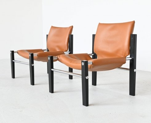 Maurice Burke safari Chelsea lounge chairs by Arkana, United Kingdom 1970