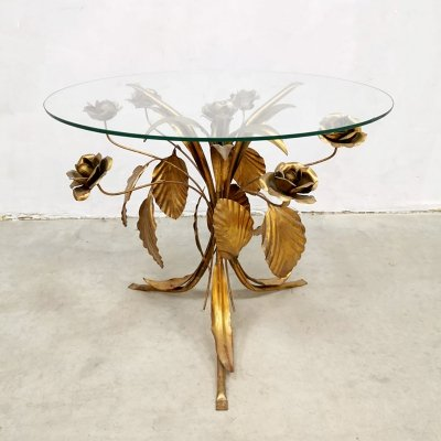 Midcentury gold gilded coffee table by Hans Kögl, 1960s