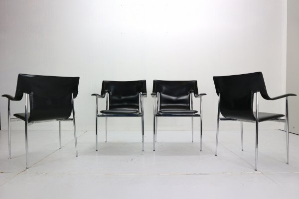 Set of 4 Giancarlo Vegni & Gianfranco Gualtierotti Chairs for Fasem, Italy 1980s