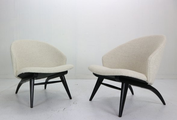 Set of Two Theo Ruth Lounge Chairs for Artifort, 1950s