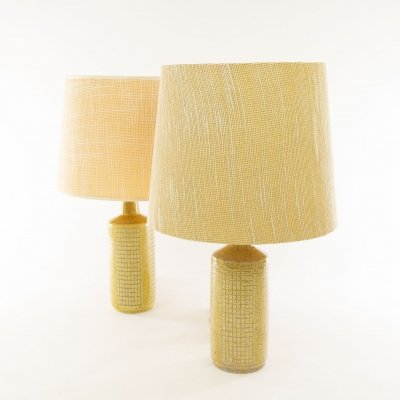 Pair of beige DL/30 table lamps by Linnemann-Schmidt for Palshus