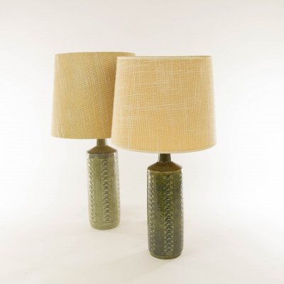 Pair of Green DL/27 table lamps by Linnemann-Schmidt for Palshus
