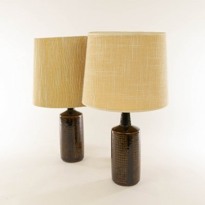 Pair of brown DL/30 table lamps by Linnemann-Schmidt for Palshus