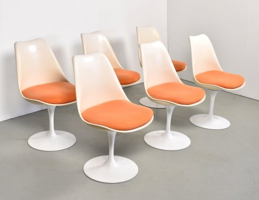 Set of 6 dining chairs by Eero Saarinen for Knoll, 1970s