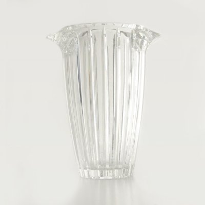 Vase in transparent crystal, 1970s