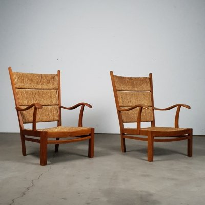 Set of Rush chairs from the 1960s