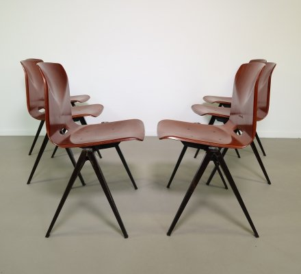 Industrial Pagholz dining chairs by Galvanitas, 1960s