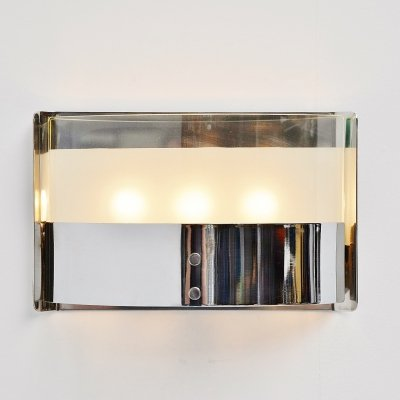 Luigi Caccia Dominioni chrome wall lamp for Azucena, 1960