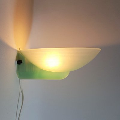 Green glass wall lamp, 1980s