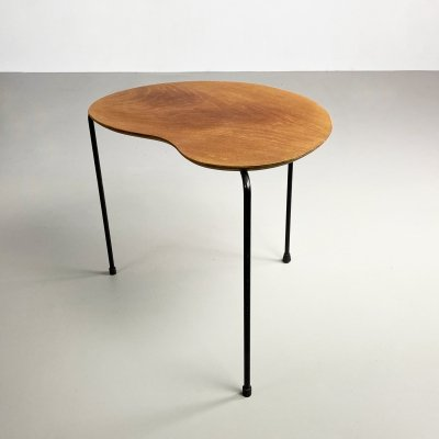Rare Plywood & Iron Side Table by Arne Jacobsen for Thonet, c.1950
